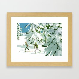 Cross Country Skiing Framed Art Print