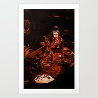 whiskey Art Prints featuring Whiskey by Esra Meral Demircan