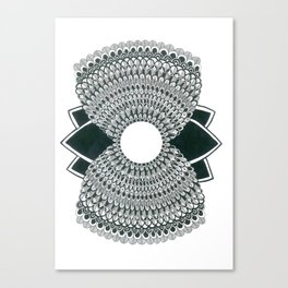 Sand Clock Mandala Canvas Print
