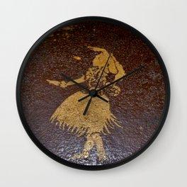 Little Hawaiian Hula Girl Wall Clock