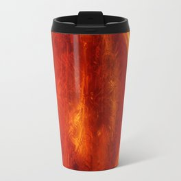 meditation orange Travel Mug