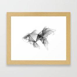 Goldfish Origami Framed Art Print