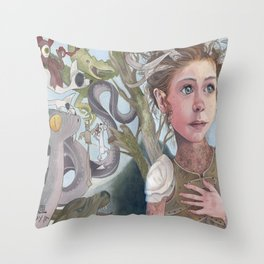 Horns and Armor Throw Pillow