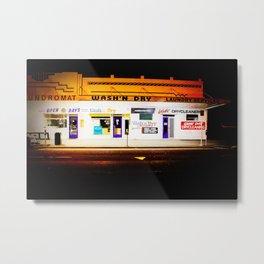 Laundromat Lights. Metal Print