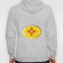 New Mexico State Flag Oval Button Hoody