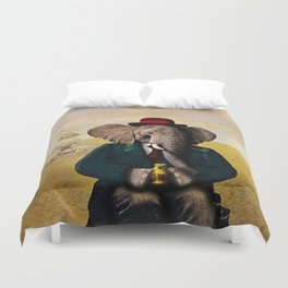Mr. Preston J. Pachyderm visits the Sphinx Duvet Cover