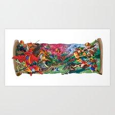 Zelda Mash Up Art Print
