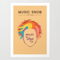 paramore Art Prints featuring MORE Music to DYE for — Music Snob Tip #075.5 by Elizabeth Owens