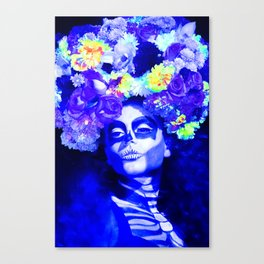 Roses & Blue Canvas Print