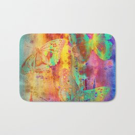 Colorful Butterfles Q Bath Mat