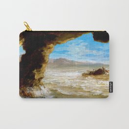 Eugene Delacroix - Shipwreck On The Coast - Digital Remastered Edition Carry-All Pouch