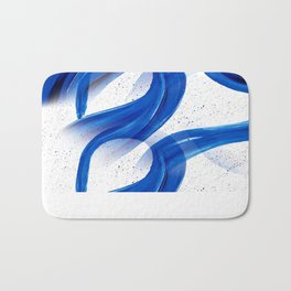 Abstract Acrylic Painting Blues Series 2 Bath Mat
