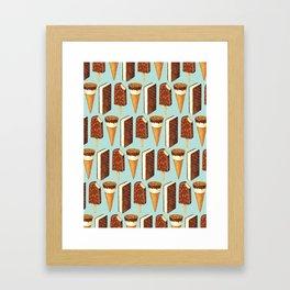 Ice Cream Pattern - Popsicles Framed Art Print