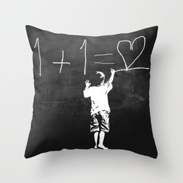 One Plus One Equals Love Throw Pillow