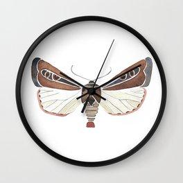 Brown Moth Wall Clock