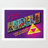 Greetings from Hyrule Art Print