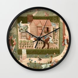 Beatrix's Friends Wall Clock