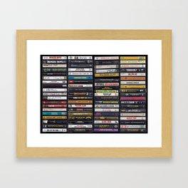Old 80's & 90's Hip Hop Tapes Gerahmter Kunstdruck