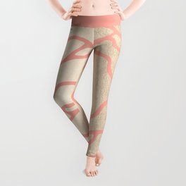 Rose White Gold Sands on Salmon Pink Leggings