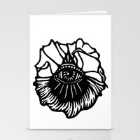 third eye Stationery Cards featuring Third Eye by Cecile Psicheer