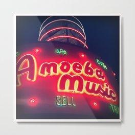 Amoeba Music Metal Print