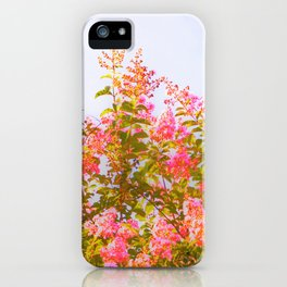 Pink Crepe Myrtle Flowers iPhone Case