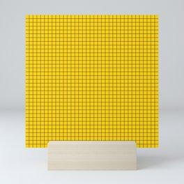 Yellow Grid Black Line Mini Art Print