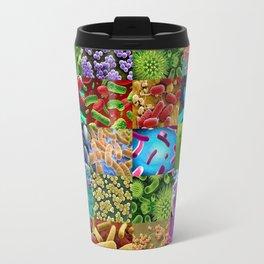 Bacteria Montage Travel Mug