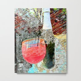 Wine art 4 Metal Print