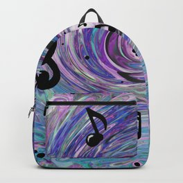 Musical Notes in Blue Backpack
