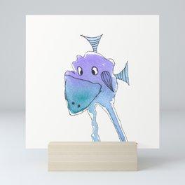 "Silly Bird ""Honkers"" square Mini Art Print"