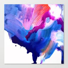 Danbury Abstract Watercolor Painting Canvas Print