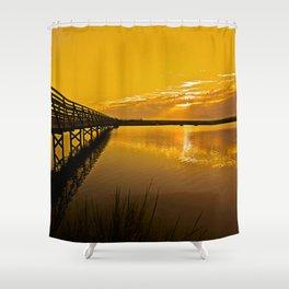 Bolsa Chica Wetlands Sunrise  8/26/13 Shower Curtain