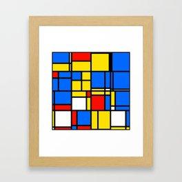 Mondrian Style Framed Art Print