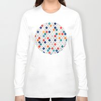 bedding Long Sleeve T-shirts featuring Sea & Spice Moroccan Pattern by micklyn