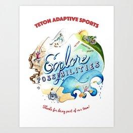 Teton Adaptive Sports Art Print