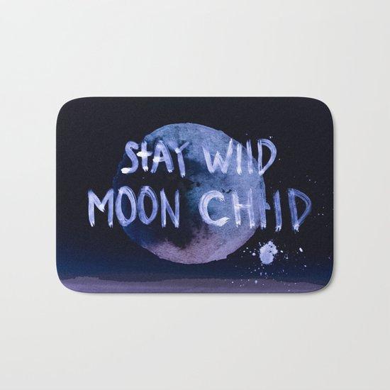 Stay wild moon child (purple) Bath Mat