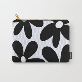 Flower Land - Black & Blue Carry-All Pouch