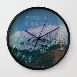 Spite the Cold Wall Clock