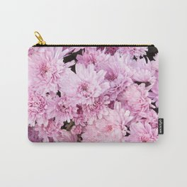 A Sea of Light Pink Chrysanthemums #1 #floral #art #Society6 Carry-All Pouch