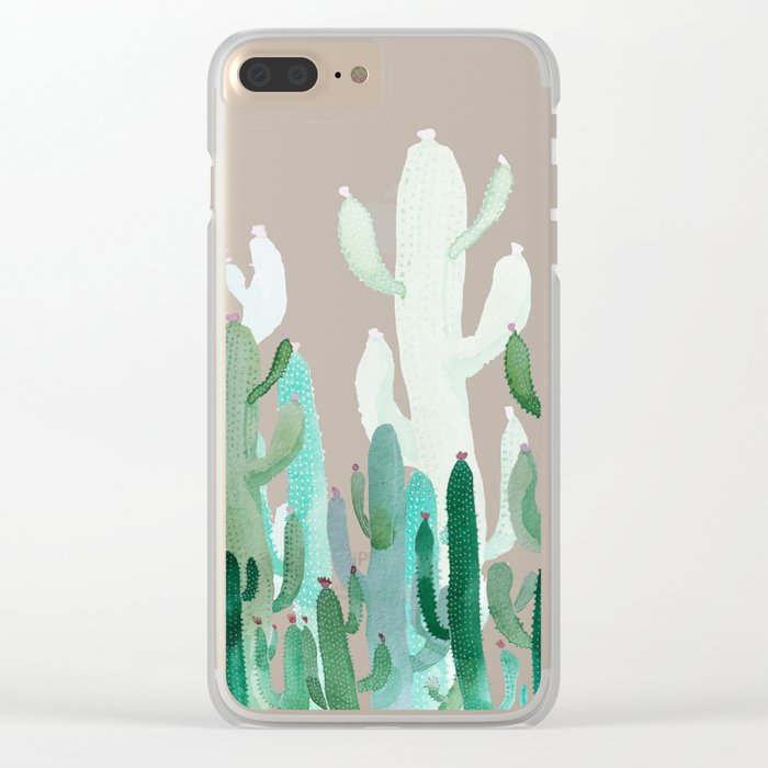 cactus world Clear iPhone Case