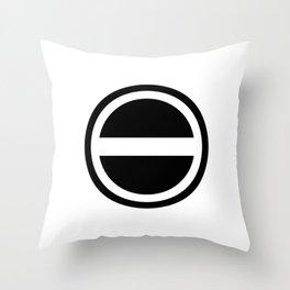 Curtis Holt Logo (Black) Throw Pillow