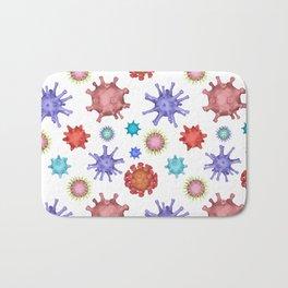 Different kinds of viruses (pattern) Bath Mat
