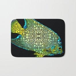 Tropical Fish Art 8 - Abstract Mosaic By Sharon Cummings Bath Mat