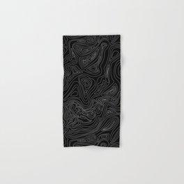 Ocean depth map - black Hand & Bath Towel