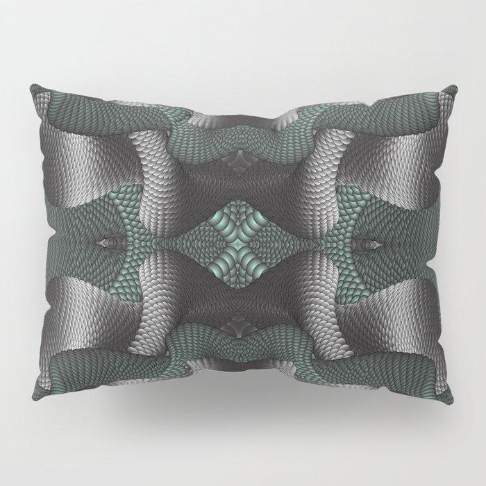 Black and green patterns Pillow Sham