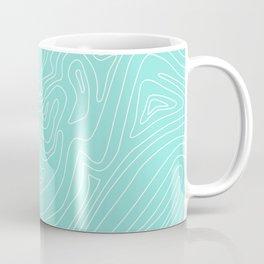 Ocean depth map - turquoise Coffee Mug