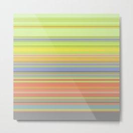 Spring Pastel Stripes Metal Print