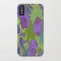 hawaiian iPhone & iPod Cases featuring Hawaiian Purple by ALLY COXON