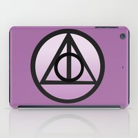 deathly hallows iPad Cases featuring Deathly Hallows by AriesNamarie